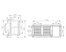 Стол холодильный T57 M2-1 9006 (BAR-250) Polus