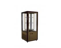 Шкаф холодильный Полюс D4 VM 120-2 (R120Cвр Люкс коричнево-золотой, 12, INOX)