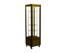 Шкаф холодильный Полюс D4 VM 400-2 (R400Cвр Люкс коричнево-золотой, 12, INOX)