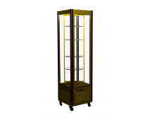 Шкаф холодильный Полюс D4 VM 400-1 (R400C Люкс коричнево-золотой, 12, INOX)