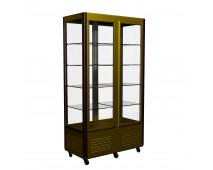 Шкаф холодильный Полюс D4 VM 800-1 (R800C Люкс коричнево-золотой, 12, INOX)
