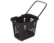 Корзина-тележка пластиковая 4 колеса 80л XXL