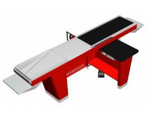 Кассовый бокс Stream-L-260-Т120 (транспортер 120см, шлиф. нерж., без вырезов, узкий накопитель)