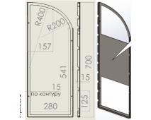 Боковина стенда настольного с сетчатыми полками (левая+правая) 280х700 мм