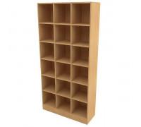 Стеллаж 18 ячеек 1000х350х2050, бук, мебель для магазинов