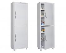 Медицинский шкаф для медикаментов HILFE МД 1 1760/SS