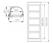 Витрина тепловая Polus A37 SH 1,0-1 (ВТ-1,0 Сarboma)