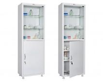 Медицинский шкаф для медикаментов HILFE МД 1 1760/SG
