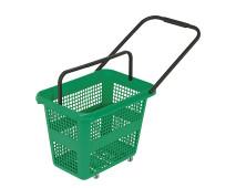 Корзина-тележка пластиковая 4 колеса 54л BARCELONA