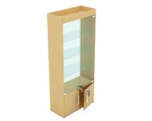 Витрина с подсветкой задняя стенка стекло